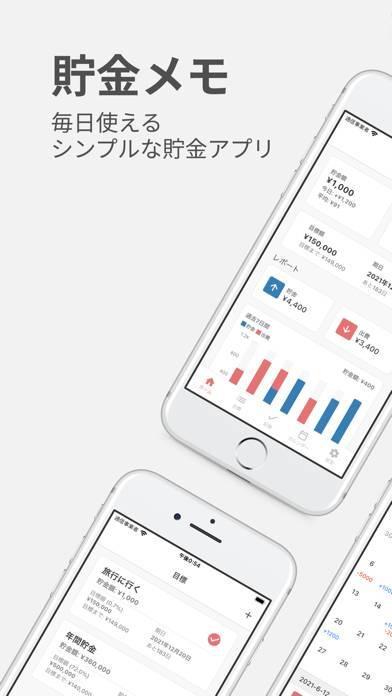 「貯金メモ 毎日使えるシンプルなアプリ」のスクリーンショット 1枚目