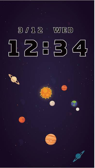 「宇宙時計 - かわいくて使いやすい時計」のスクリーンショット 1枚目