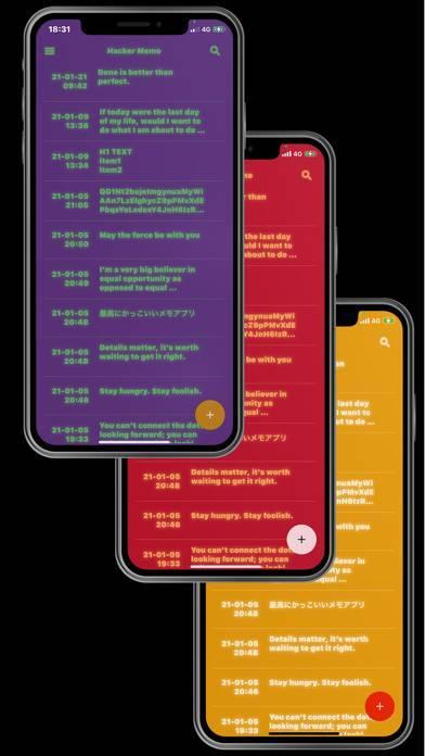 「Hacker Memo   かっこいい!シンプルなメモ帳」のスクリーンショット 2枚目