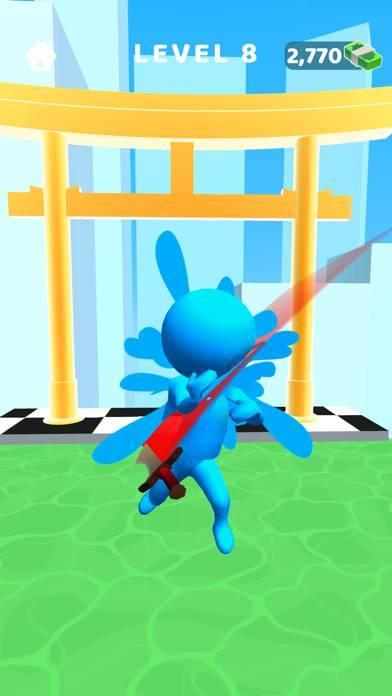 「ソードプレイ!3D忍者が駆け抜け斬りまくる」のスクリーンショット 2枚目