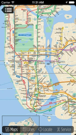 「CityTransit - Official NYC Subway Maps」のスクリーンショット 1枚目