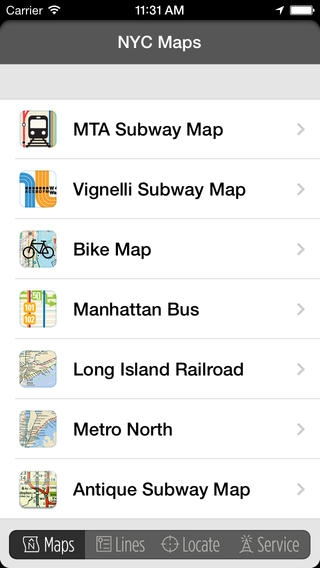 「CityTransit - Official NYC Subway Maps」のスクリーンショット 2枚目