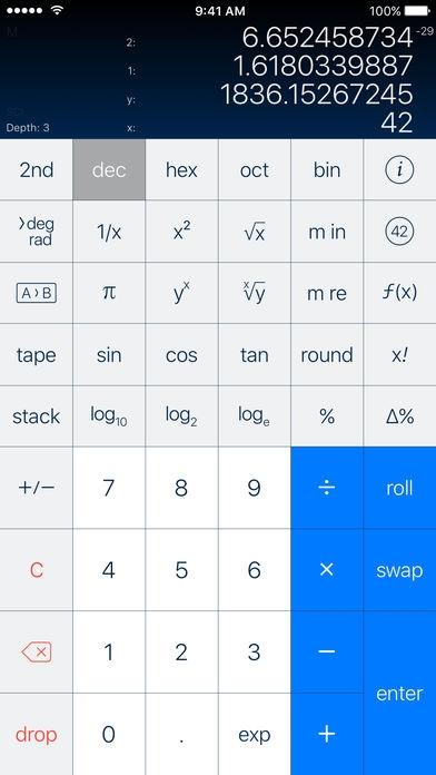 「PCalc - The Best Calculator」のスクリーンショット 1枚目