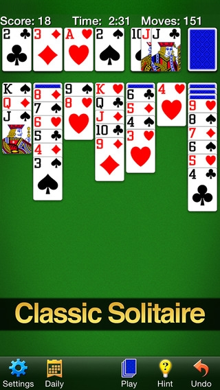 「Solitaire by MobilityWare」のスクリーンショット 1枚目