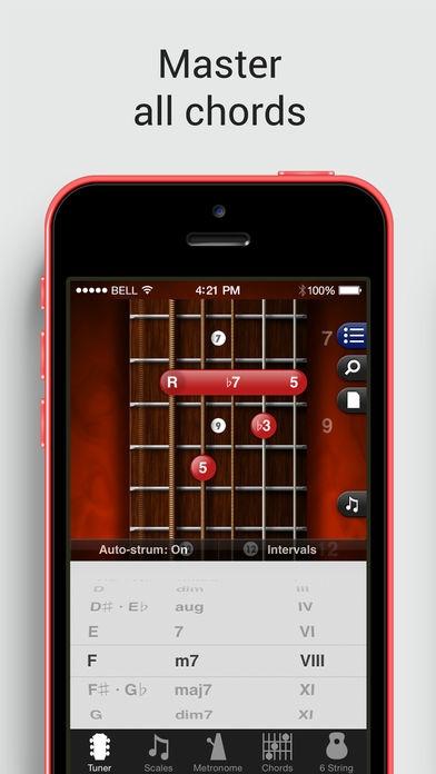 「GuitarToolkit - tuner, metronome, chords & scales」のスクリーンショット 3枚目