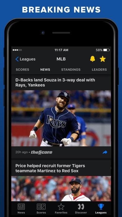 「theScore: Sports News & Scores」のスクリーンショット 3枚目