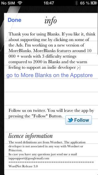 「Blanks」のスクリーンショット 3枚目