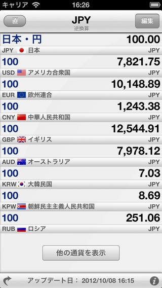 「通貨のコンバーター  Currency Converter Pro - 220通貨!」のスクリーンショット 3枚目