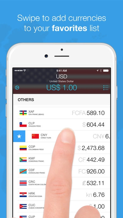 「Currencies - The Smart Currency Converter」のスクリーンショット 3枚目