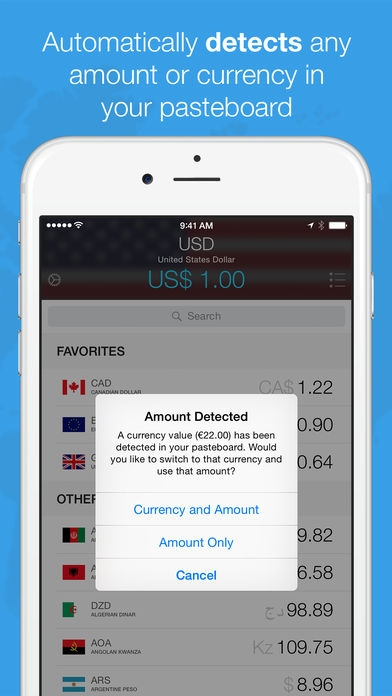 「Currencies - The Smart Currency Converter」のスクリーンショット 1枚目