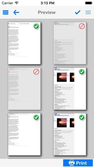 「Print (連絡先、ウェブページ、写真を印刷)」のスクリーンショット 2枚目