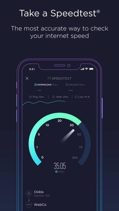 「Speedtest - インターネット速度」のスクリーンショット 1枚目
