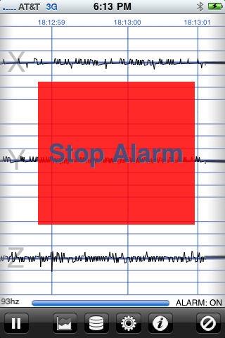 「地震計 - iSeismometer」のスクリーンショット 2枚目