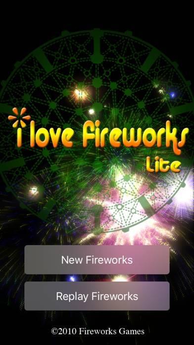 「iLoveFireworks Lite/打ち上げ花火」のスクリーンショット 2枚目