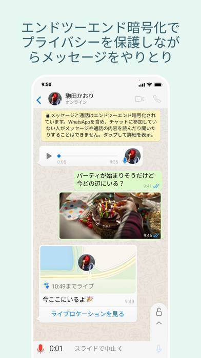 「WhatsApp Messenger」のスクリーンショット 2枚目