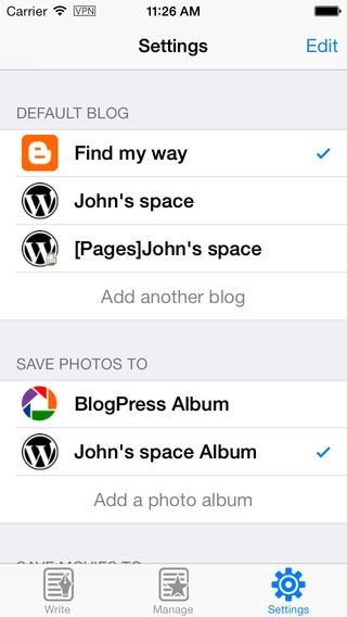 「BlogPress」のスクリーンショット 3枚目