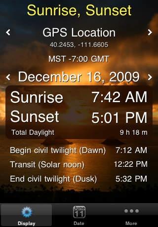 「Sunrise Sunset Lite」のスクリーンショット 1枚目