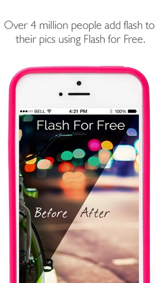 「Flash for Free – Best Photo Editor with Flash & Awesome FX Effects」のスクリーンショット 1枚目