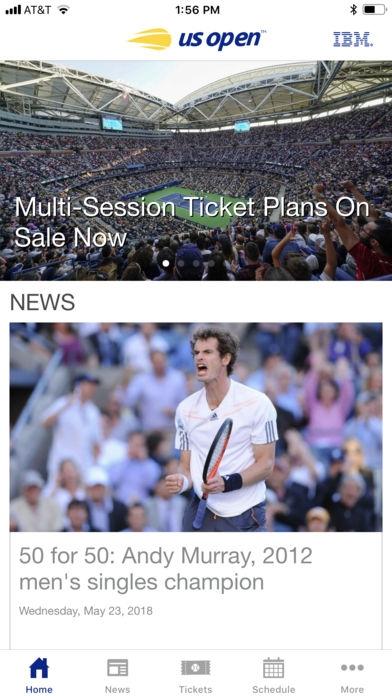 「US Open Tennis Championships」のスクリーンショット 2枚目