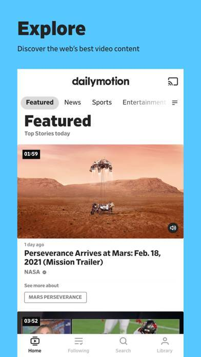 「Dailymotion」のスクリーンショット 1枚目