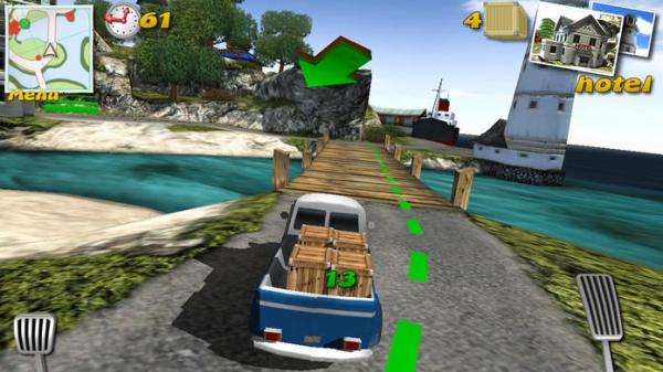 「Parcel Panic - Post Car Racer 3D」のスクリーンショット 1枚目