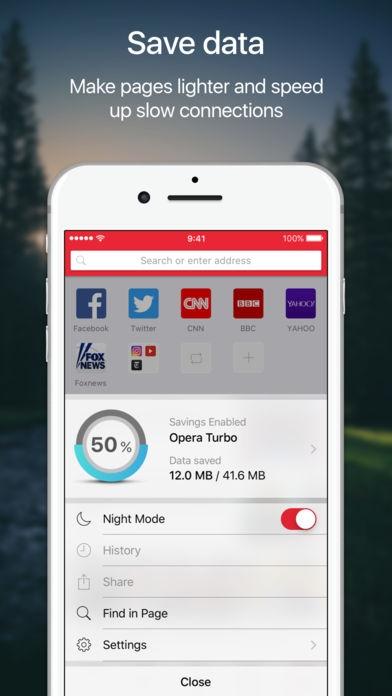 「Opera Mini web browser」のスクリーンショット 3枚目