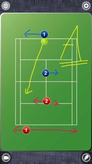 「Tennis Board Free (テニス)」のスクリーンショット 1枚目