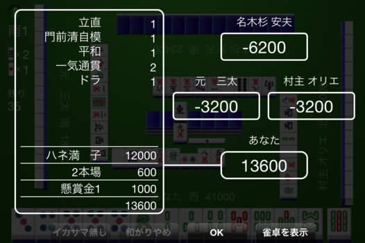 「Simple! 雀 Touch Lite」のスクリーンショット 3枚目