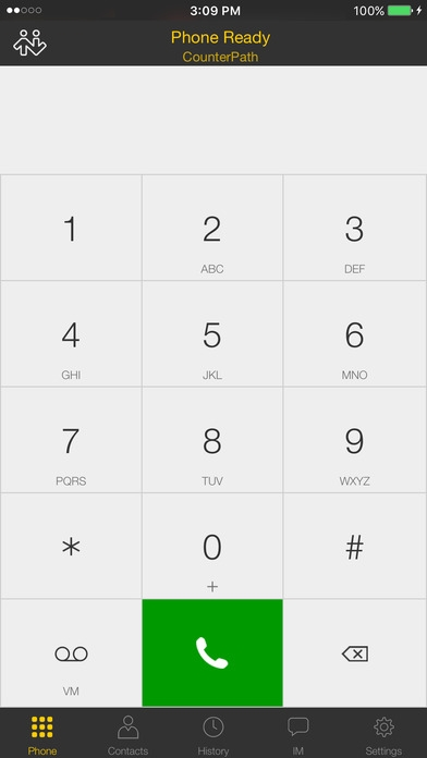 「Bria iPhone Edition - VoIP Softphone SIP Client」のスクリーンショット 1枚目