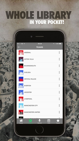 「FanChants: Football Songs & Soccer Chants」のスクリーンショット 2枚目