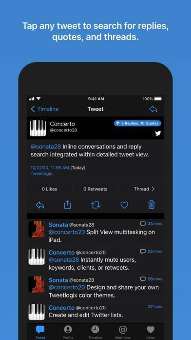 「Tweetlogix for Twitter」のスクリーンショット 3枚目
