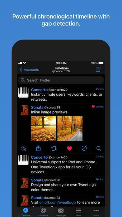 「Tweetlogix for Twitter」のスクリーンショット 1枚目