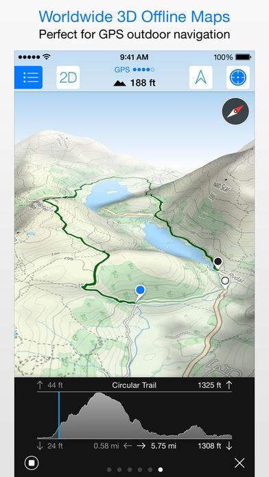 「Maps 3D PRO - GPS for Bike, Hike, Ski & Outdoor」のスクリーンショット 3枚目