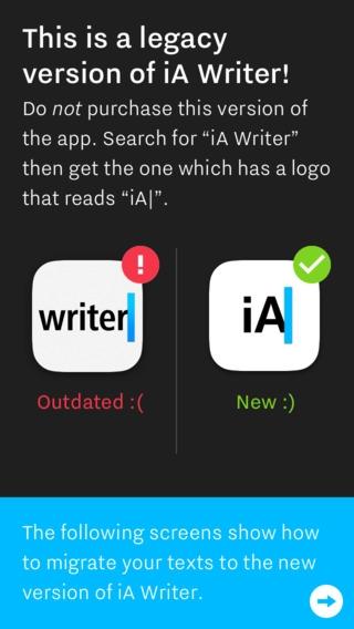 「iA Writer Classic (Legacy Support Edition)」のスクリーンショット 1枚目