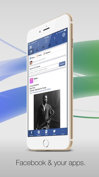 「Facely HDFacebook対応無料版 + ソーシャルアプリブラウザ」のスクリーンショット 1枚目