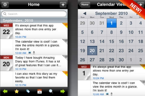 「Amazing Diary Free」のスクリーンショット 1枚目