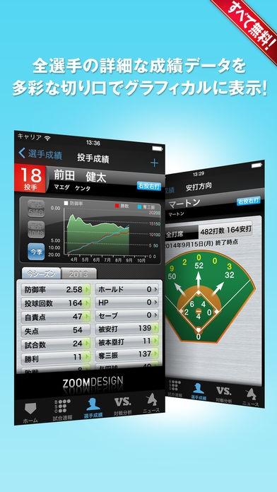 「プロ野球!Data & Live〈すべて無料!〉」のスクリーンショット 3枚目