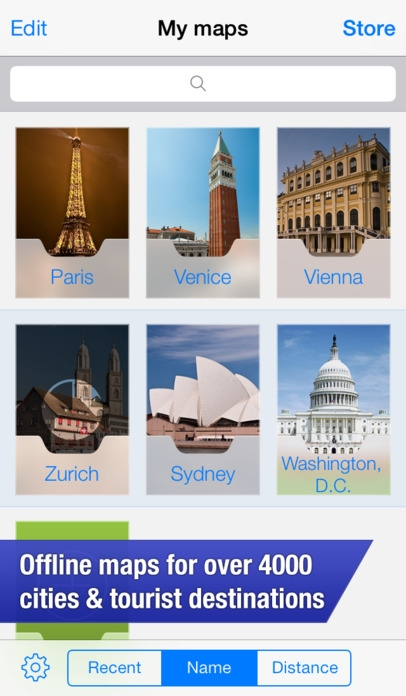「OffMaps 2 - Offline Maps for Paris, London, Berlin, New York ...」のスクリーンショット 1枚目