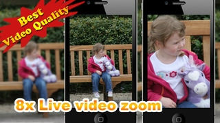 「Video Zoom Pro: HD Camera with Live Zoom, Effects, Pause, snapshot photo and Movie Sharing」のスクリーンショット 2枚目