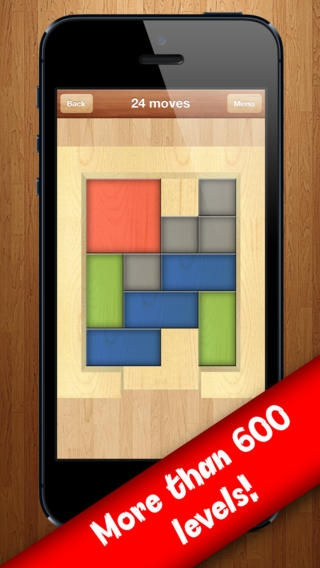 「Red Block PRO (FT Apps) - Smart and Intelligent Sliding Blocks Puzzle」のスクリーンショット 1枚目