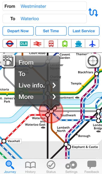 「Journey Pro Ad-Free - London UK by NAVITIME」のスクリーンショット 1枚目