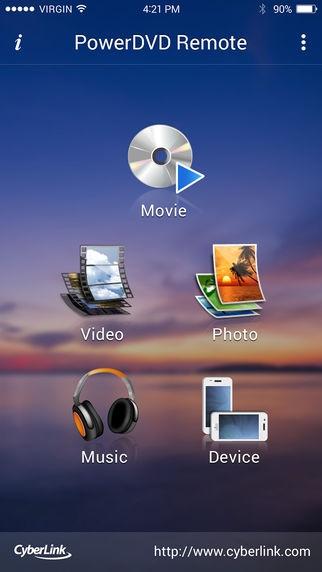 「PowerDVD Remote」のスクリーンショット 1枚目