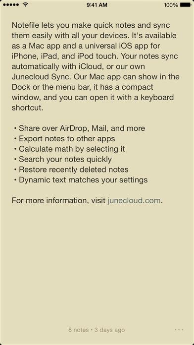 「Notefile」のスクリーンショット 2枚目