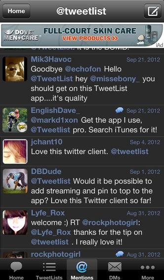 「TweetList for Twitter」のスクリーンショット 1枚目