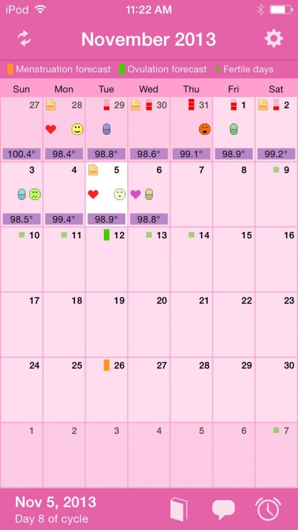 「Menstrual Calendar」のスクリーンショット 1枚目