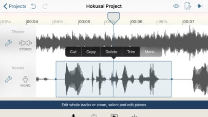 「Hokusai Audio Editor」のスクリーンショット 2枚目