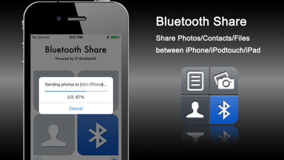「Bluetooth Share - Sharing Photos/Contacts/Files」のスクリーンショット 1枚目