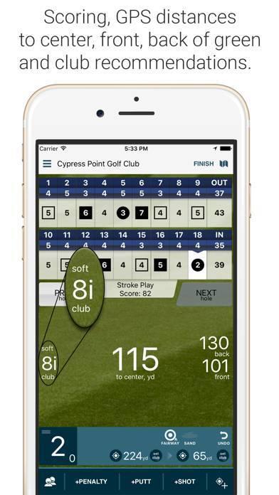 「Golf Pad: Golf GPS & Scorecard」のスクリーンショット 2枚目