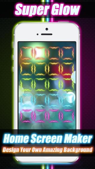 「ネオンカラーホーム画面棚壁紙メーカー - iOS 7 Edition」のスクリーンショット 2枚目