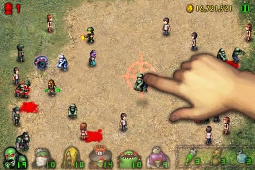 「Angry Zombies 2 HD」のスクリーンショット 1枚目